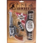 Cowboy szett, övvel, 5 részes