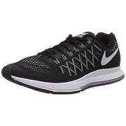 Nike Men's Air Zoom Pegasus 32 Black,White,Pure Platinum Running Shoes -9 UK/India (44 EU)(10 US)
