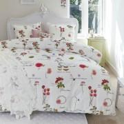 Lenjerie de pat cu flori rosii