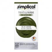 Brauns-Heitmann GmbH & Co. KG simplicol intensiv Textilfarbe, Flüssige Farbe und Fixierpulver mit Salz, Farbe: Oliv-Grün