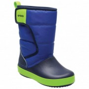 Crocs - Kid's LodgePoint Snow Boot - Chaussures d'hiver taille J3, bleu