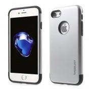 Caseology Etui de casologie argenté Etui en silicone TPU argenté iPhone 7 8 Coque noire