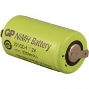 Акумулаторна батерия NiMH SC 1.2V 2200mAh 1бр. GP BATTERY - GP-BR-SC-2200