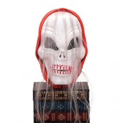 LUOEM Halloween Scarf Mask Festival Skull Masks Horror Scary Tease Party Masks Festive Supplies Masquerade Mask Cosplay Costume (White)