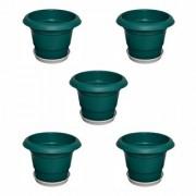 Crete Pvc Green Planter ( Set Of 5 Pcs )