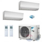 Daikin Duo Split 2.5+2.5 +4.0 kW Perfera FTXM-N Wit Air Conditioner WiFi R-32 FTXM25N +FTXM25N +2MXM40M A++/A++ 9+9 Btu