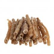 Плетени пръчици за дъвчене Trixie (телешка кожа), 12,5 см - 100 бр. (500 г)
