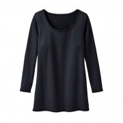 Shirt met ronde hals, zwart 44