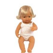 Papusa Baby European Fata Miniland 38 Cm
