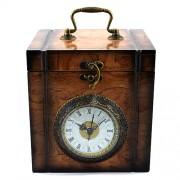 Cutie bijuterii cu ceas de epoca