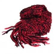 Bufanda Rojo vino y negro