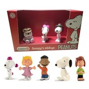 Schleich Peanuts Set of 8 Snoopy Walking, Franklin, Peppermint Patty, Fifi, Sally and a Schleich Boxed Sibling Set of Belle, Olaf and Spike Quality Toys Packaged and Ready to Give
