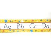 Teaching Tree Manuscript Alphabet Bulletin Back to School Board Set Creative Strips School Office Resources Scholastic Teacher Teacher's Bulletin Trim Wall Border Decal Classroom Decoration Set B
