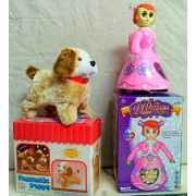 PLAY DESIGN Princess Doll With 3D Light & Jumping Dog (multi color) combo pack