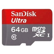 64GB SanDisk Ultra MicroSDHC UHS-I Memory Card with Adapter - HTC Micro SD