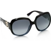Salvatore Ferragamo Over-sized Sunglasses(Grey, Blue)