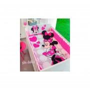 Edredon Minnie Mouse + Edredon De Flores (Para Cuna)-Rosa