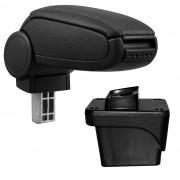 [pro.tec]® Lakťová opierka pre Volkswagen Polo VI - čierny koženkový poťah