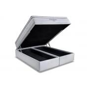 Conjunto Box Baú Colchão Ortobom Molas Pocket Freedom + Cama Box Baú Courino Bianco - Conjunto Box Solteiro - 088 x 188