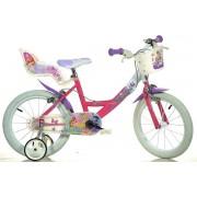 """Bicicleta copii DINO BIKES 164R WX7, Roti 16"""", Winx"""