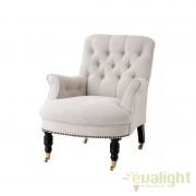 Fotoliu LUX design elegant, clasic si confortabil Barrington linen 106874U HZ