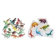 Plastic Toy Dinosaurs (72 count) Bundled Dinosaur Tattoos (6 Dozen)