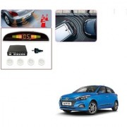 Auto Addict Car White Reverse Parking Sensor With LED Display For Hyundai Elite i20