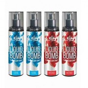 Liquid Bomb Perfumed Body Spray - Cool 2 Musk 2 (Set of 4)