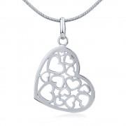 Silvego Stříbrný přívěsek srdce - ZTJP13509