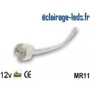 Douille LED MR11 fil denudé 12v ref do-03