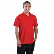 Nisbets Unisex Polo Shirt Red XL Size: XL