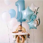 Baloane pentru tăierea moţului, set aniversar (12 piese)