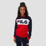 FILA Martia crew sweater blauw/rood Dames - blauw/rood - Size: Medium