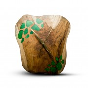 TIMMER wood decor RAW Resin - Teakové drevené hodiny
