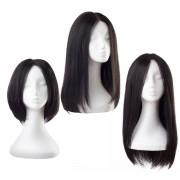Rapunzel® Parrucche Parrucca Lace Capelli naturali 1.1 Intense Black 30 cm