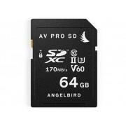Angelbird V60 SDXC-Kort 64 GB Class 10, UHS-II, UHS-Class 3, v60 Video Speed Class