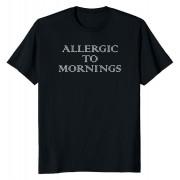 Мъжка тениска Allergic to mornings