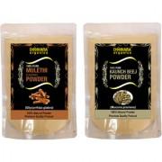 Donnara Organics 100% Natural Mulethi(Licorice) Powder and Kaunch Beej powder Combo pack of 2 of 150 gms(300 gms)