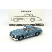 1:18 1954 MERCEDES-BENZ 300 SL BLUE 180-039007 DIECAST CAR BY MINICHAMPS COLLECTION