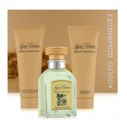 ADOLFO DOMINGUEZ AGUA FRESCA EAU DE TOILETTE 120ML VAPORIZADOR + AFTER SHAVE 75ML + GEL DE BAÑO 75ML