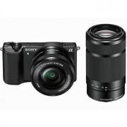 Sony A5100 svart + E PZ 16-50/3,5-5,6 OSS + E 55-210/4,5-6,3 OSS
