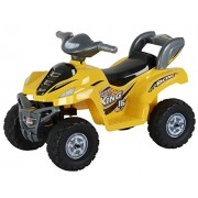 Toyhouse Desert King Small ATV Bike 6V Rechargeable Battery Operated Ride On, Yellow