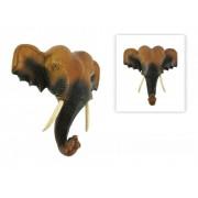 Fali szobor elefánt fej 20cm - Egzotikus ajándék