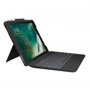 "Logitech Capa Logitech Slim Combo com Teclado Sem Fios Preta para iPad Pro de 10.5"""