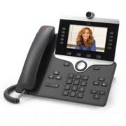 "VoIP телефон Cisco IP Phone 8845, 5.0"" (12.70 cm) WVGA цветен дисплей, 5 линии, 2x LAN1000, PoE, тъмно сив"