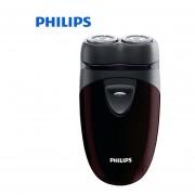 Afeitadora eléctrica Philips 100% auténtica PQ206 con dos cabezas flotantes AA batería de seguimiento de contorno Facial para maquinilla de afeitar eléctrica para hombre(PQ206)