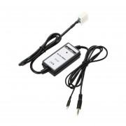 YKT-AB051 Coche Portátil Adaptador Aux-in Para Honda Con Cable De Carga Para El IPhone -en Blanco Y Negro