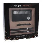 2K Let´s Get Perfect! tonalità Grey confezione regalo paletta di ombretti per occhi 3 x 2,2 g + applicatore per ombretti 1 pz + matita contorno occhi 0,2 g 086 + matita contorno occhi 0,2 g 087 donna