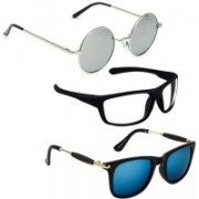 Vitoria Round, Wayfarer, Rectangular Sunglasses(Multicolor)