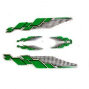 Spidy Moto Scooter Sticker Green Black Graphics Accessories Universal For All Scooty (Set of 5 Pc)